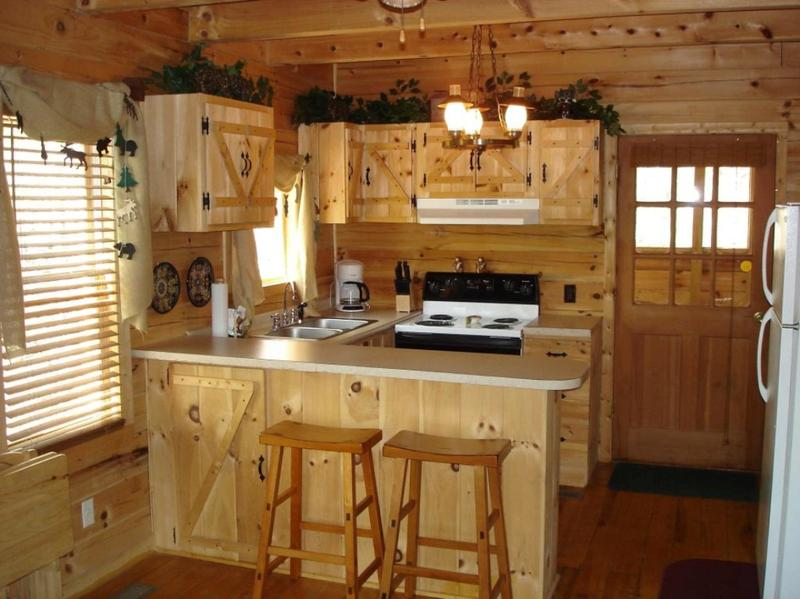 Rustic Kitchen Cabinets 10 rustic kitchen designs with unfinished pine kitchen cabinets