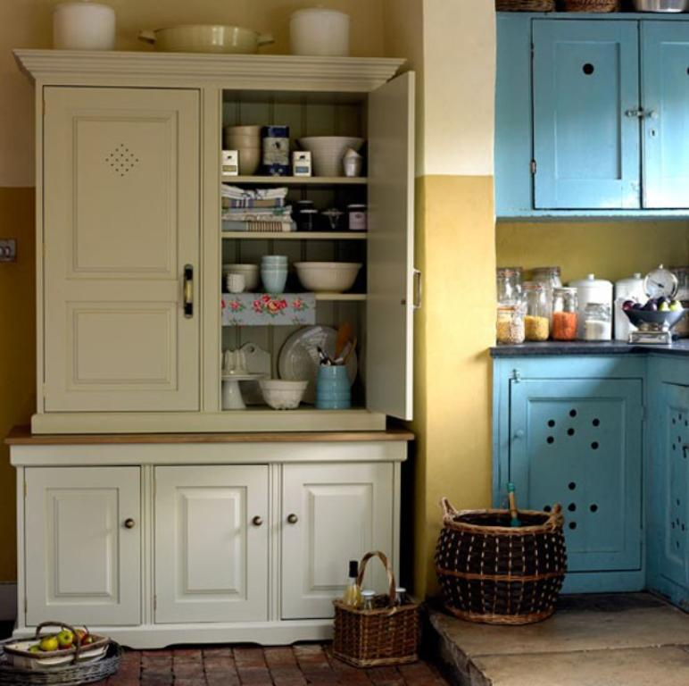 Country Inspired White Kitchen Pantry