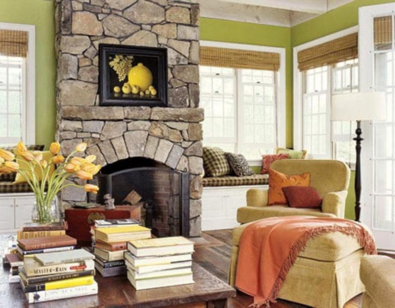 Living Room Ideas With Stone Fireplace living room design with stone fireplace - creditrestore