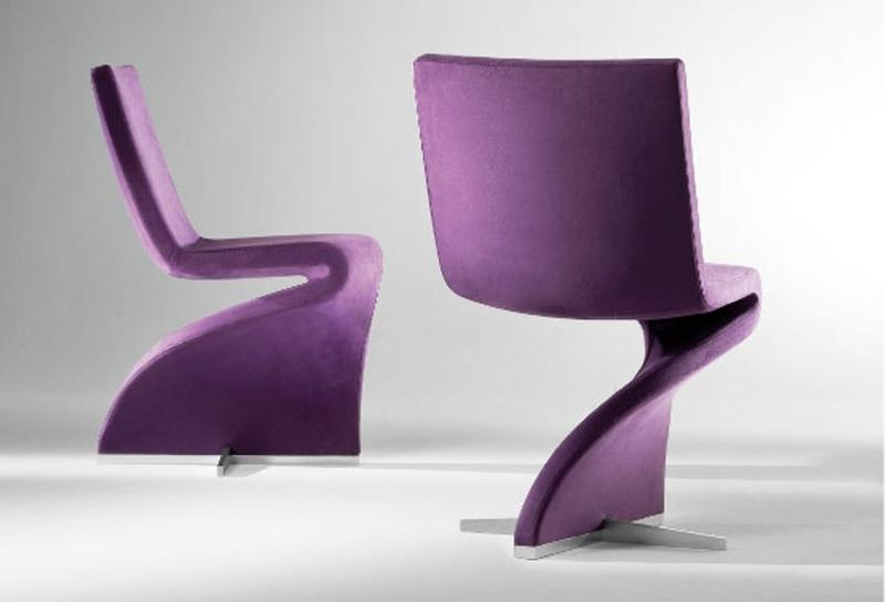 Creative Upholstered Purple Swivel Chair For Living Room