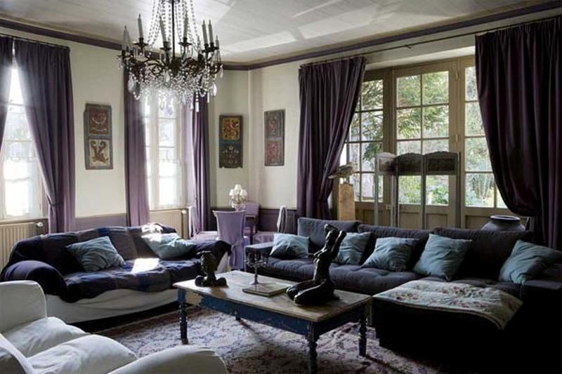 Dark Purple Living Room