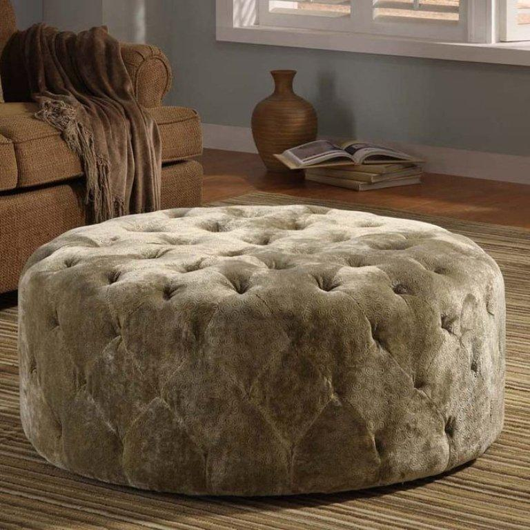 Amazing Tufted Round Ottoman – Perfect Photo Source