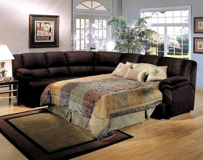 Dark Brown Sectional Sleeper Sofa Part 75