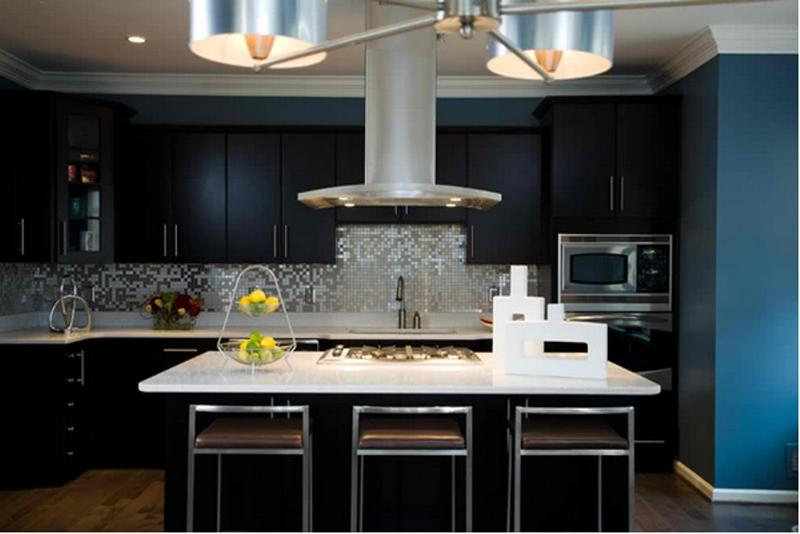 black cabinets kitchen. Dark Kitchen with black cabinets 15 Contemporary Black Cabinets  Rilane