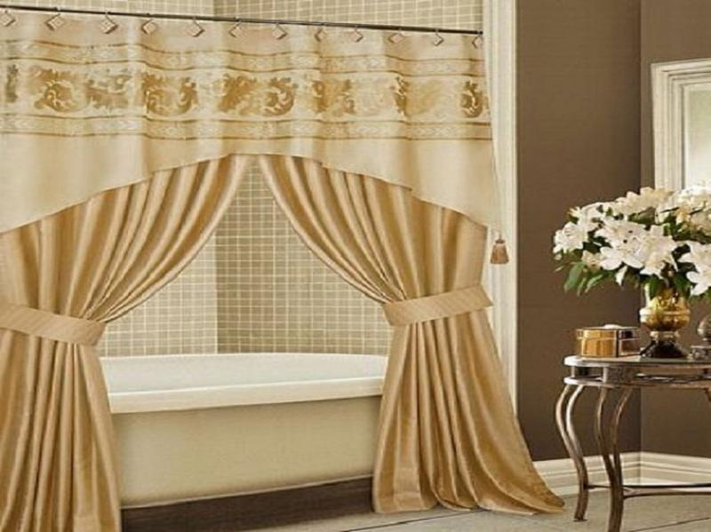 Dramatic Elegant Extra Long Shower Curtain