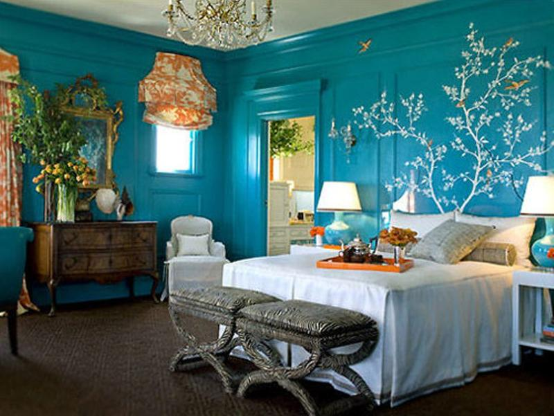 Eclectic Blue Bedroom