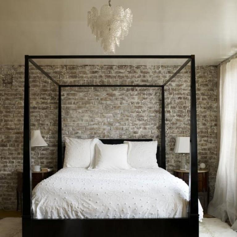 20 Modern Bedroom Designs with Exposed Brick Walls - Rilane