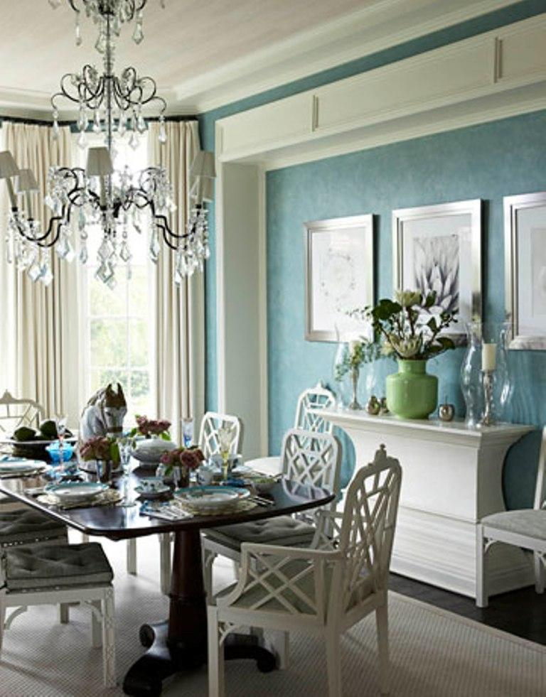 Elegant Deep Blue Dining Room