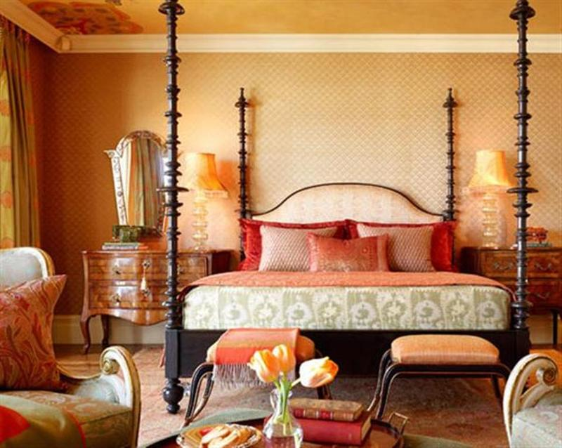 Delightful Exotic Moroccan Bedroom With Canopy Bed