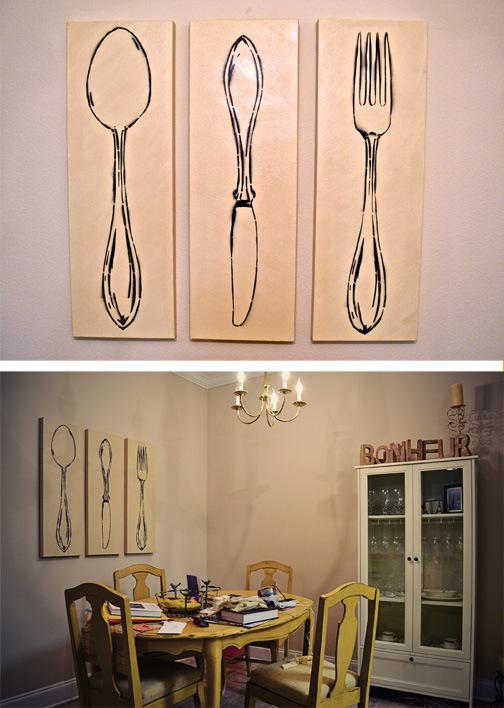10 fun spoon and fork wall decor for creative kitchen rilane aluminium spoon and fork wall decor in the kitchen ppazfo