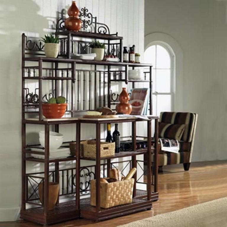 Decorating A Bakers Rack Kitchen
