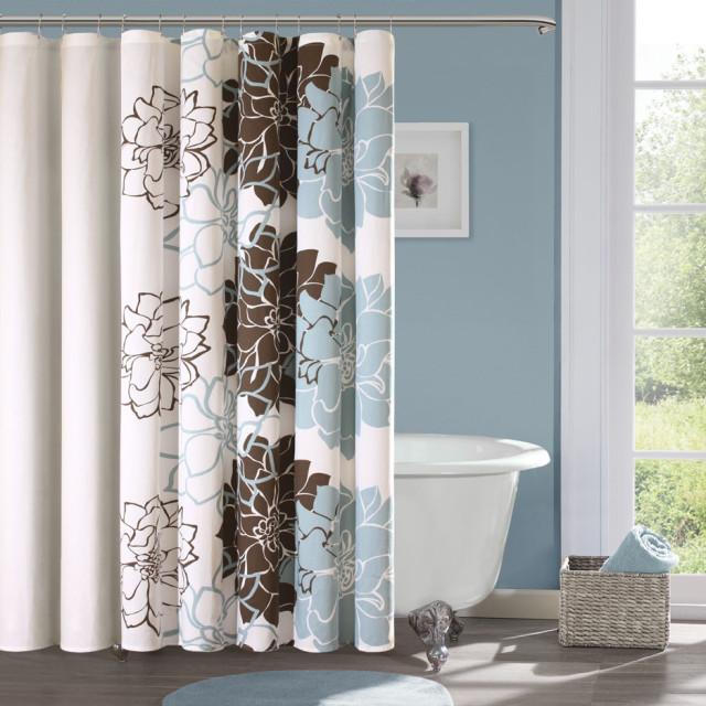 Fresh Floral Extra Long Shower Curtain