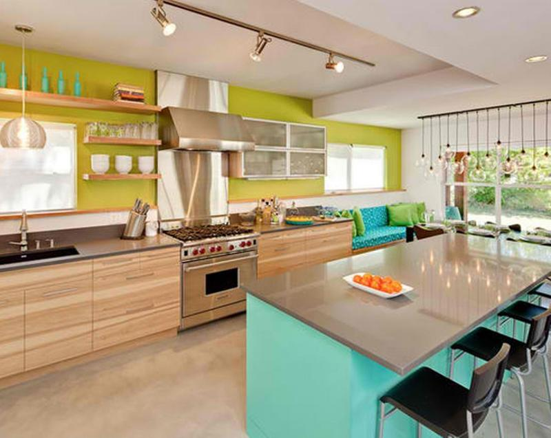 15 Vibrant and Colorful Kitchen Design Ideas - Rilane
