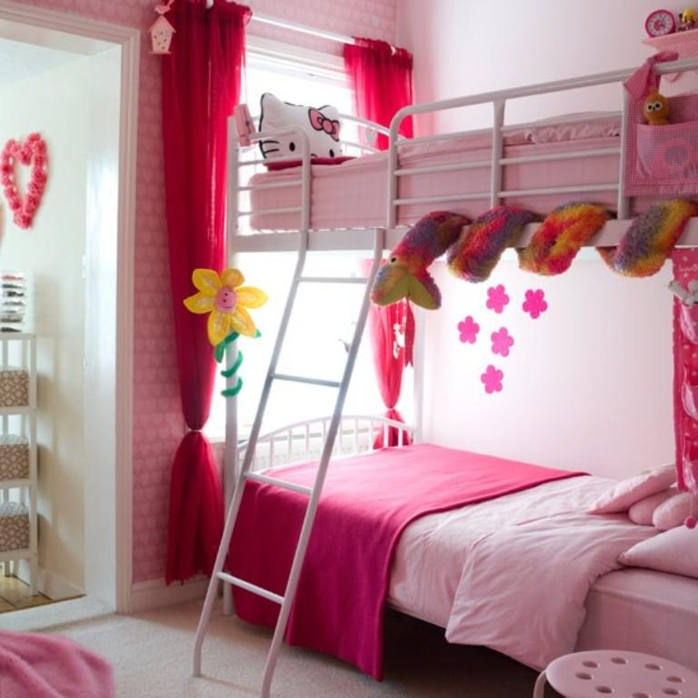 Interior Twin Girls Bedroom Ideas 15 twin girl bedroom ideas to inspire you rilane girly pink bunk bed for twins