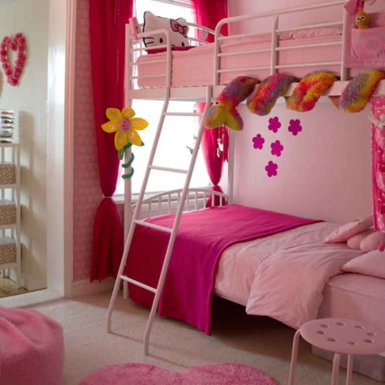 Pretty Room Decorations Pink Girls Bedroom Ideas Pretty: 10 Beautiful Wallpaper Designs For Girl's Bedroom