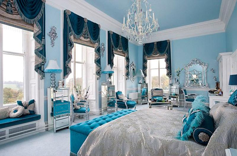 Interior Blue Bedroom vibrant blue bedroom design ideas rilane glamorous master bedroom