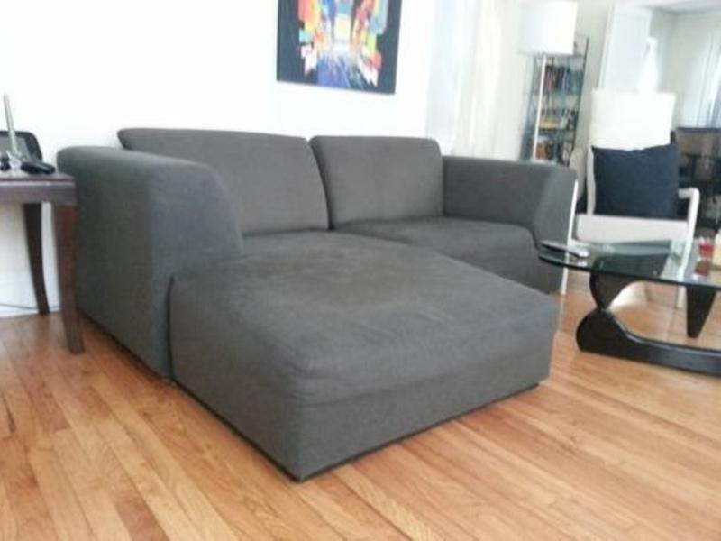 grey small sectional sleeper sofa : small sofa sectional - Sectionals, Sofas & Couches