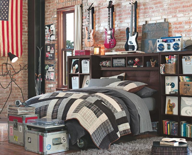 Delightful Guitar Inspired Bedroom