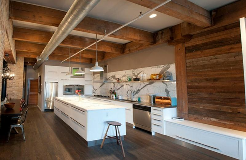 Rustic Modern Kitchen Ideas. Industrial Loft Kitchen Rustic Modern Ideas