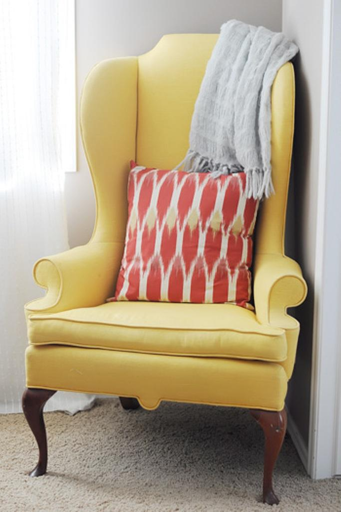 Fabolous Yellow Wingback Chair Design Ideas on Home Decorating With Antique Furniture