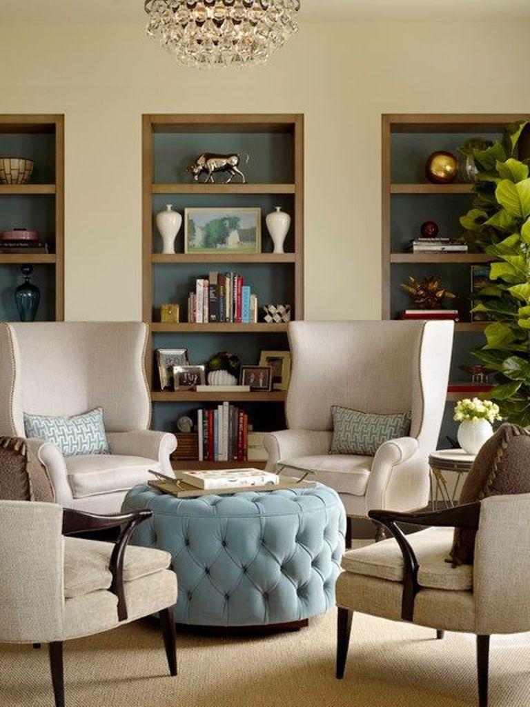 15 modern round ottoman designs rilane for Living room ideas velvet