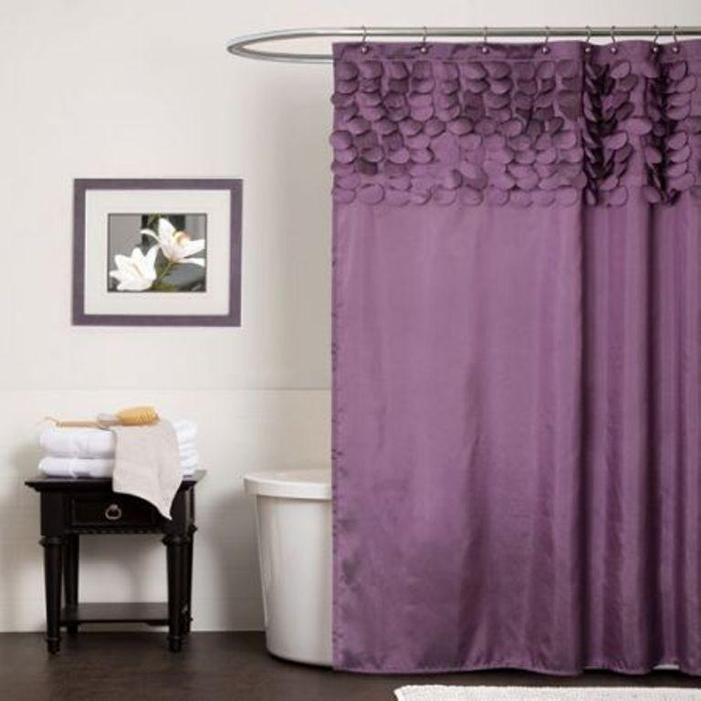 Lillian Purple Extra Long Shower Curtain