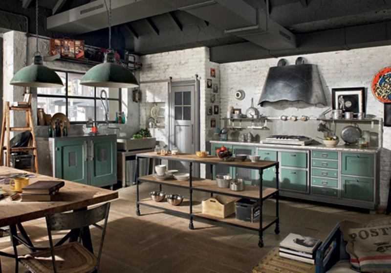 Whimsical industrial kitchen design ideas rilane - Mobiliario vintage industrial ...