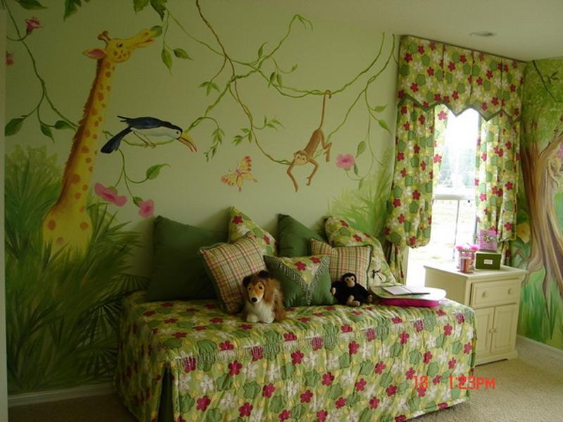 Lovely Jungle Themed Bedroom. 20 Jungle Themed Bedroom for Kids   Rilane