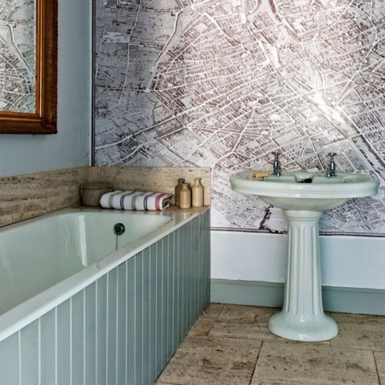 15 Gorgeous Bathroom Wallpaper Design Ideas   Rilane