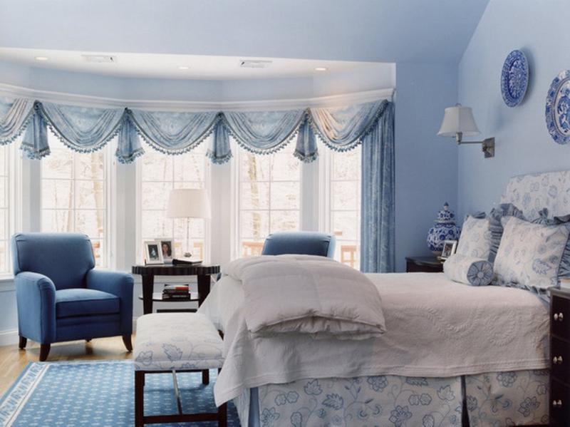vibrant blue bedroom design ideas - rilane