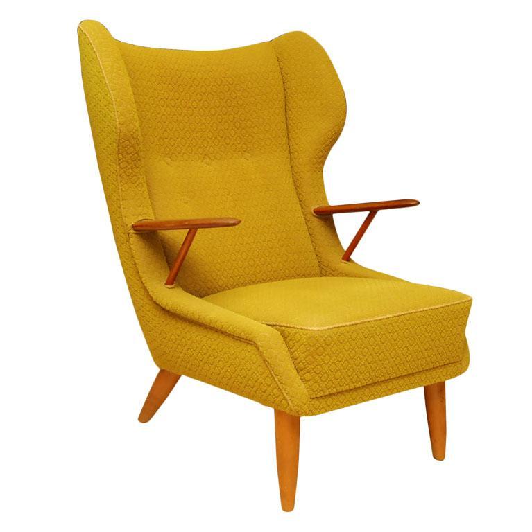 fabolous yellow wingback chair design ideas