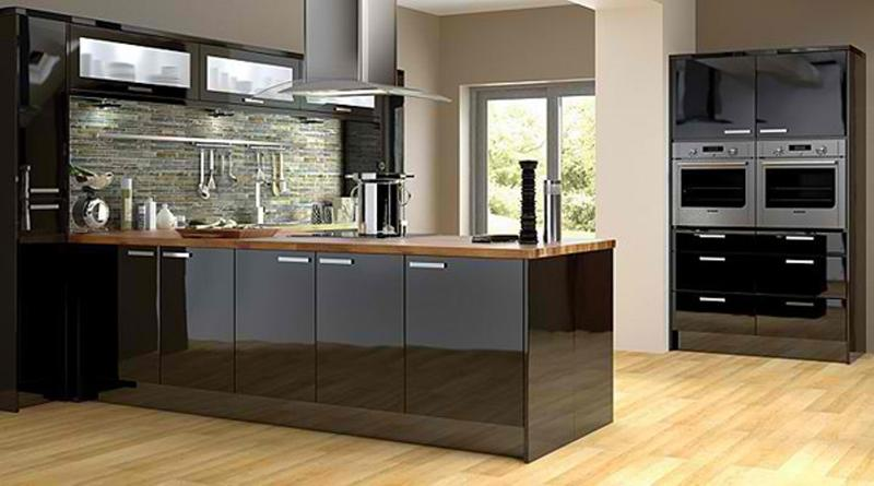 Modern Black Kitchens 15 contemporary kitchen with black cabinets - rilane