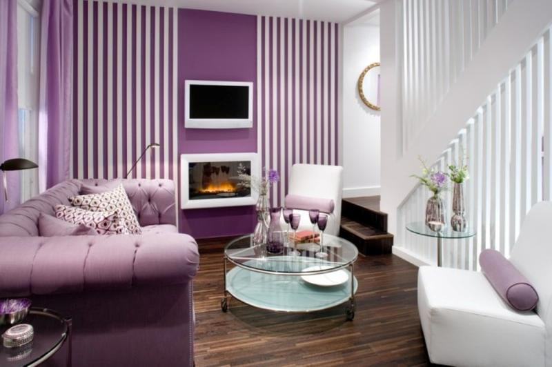 Wonderful Modern Purple Living Room
