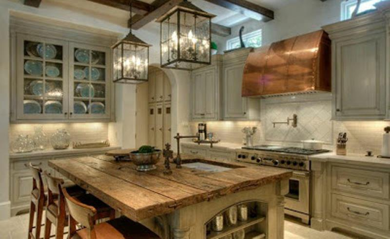 modern reclaimed kitchen island - Modern Rustic Kitchen Island