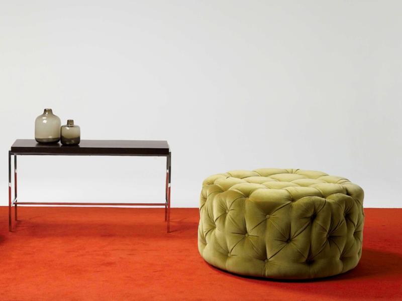 15 Modern Round Ottoman Designs Rilane