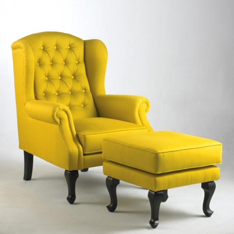 Fabolous Yellow Wingback Chair Design Ideas Rilane