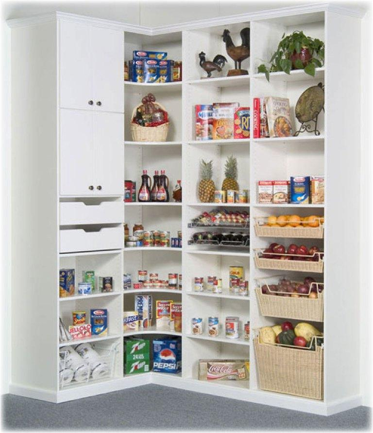 modern white kitchen pantry cabinet