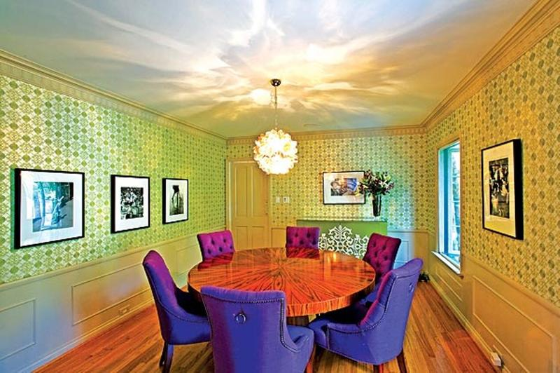 Multi Colored Quirky Dining Room