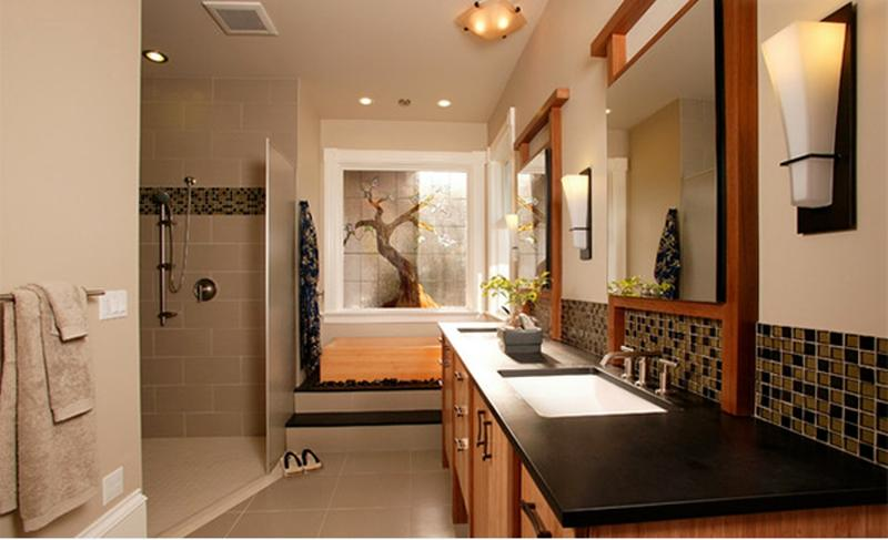 Natural Light Bathroom With Asian Feel