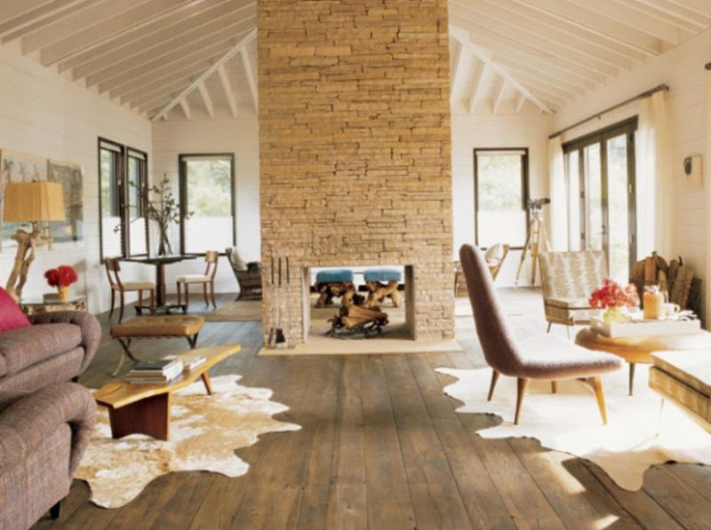 stunning living rooms with stacked stone fireplace - rilane