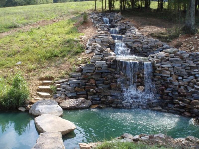 natural stone backyard waterfall - Waterfall Design Ideas
