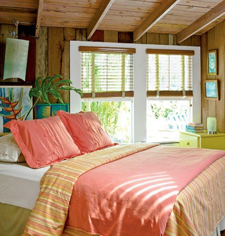 naturalist beach themed bedroom