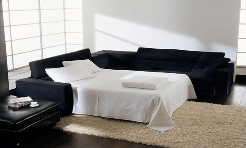Navy Blue Velvet Sectional Sofa