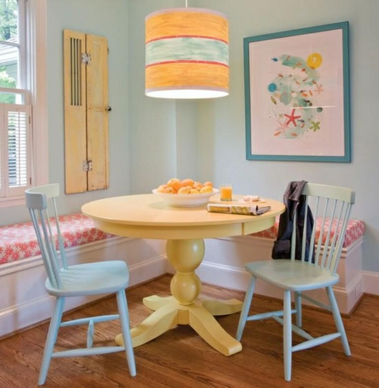 Pastel Colored Dining Room