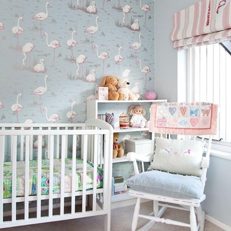Baby Boy Bedroom Colors Contemporary One Bedroom Apartment Design Navy Blue Bedroom Paint Boy Kid Bedroom Furniture: 10 Beautiful Wallpaper Designs For Girl's Bedroom