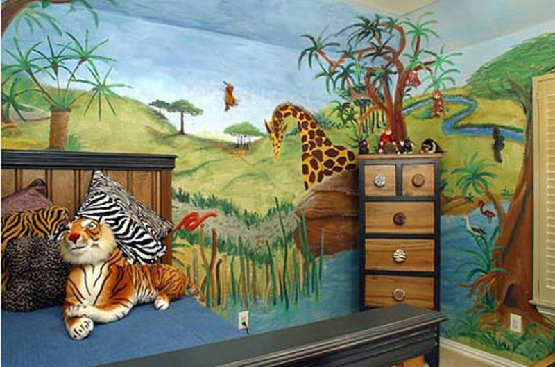Playful Jungle Themed Bedroom