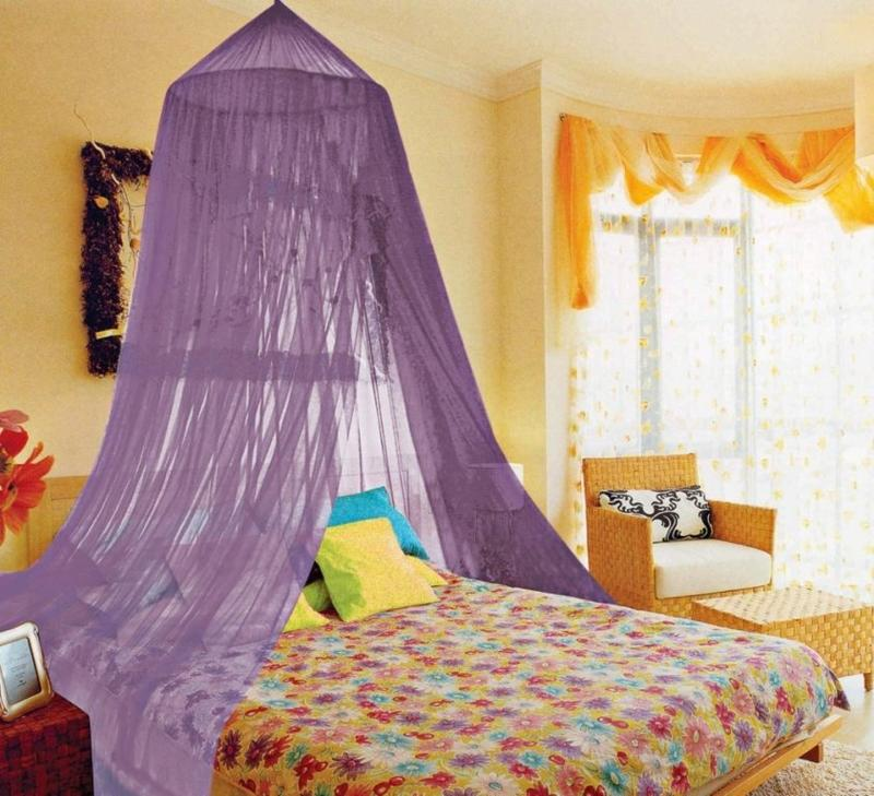Purple Canopy Bed Curtain
