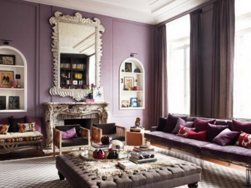 Delightful Chic Light Purple Living Room