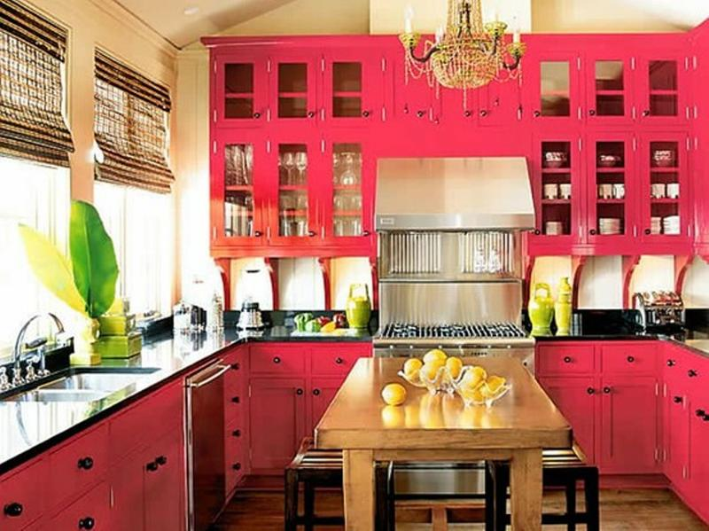 Quirky Pink Kitchen