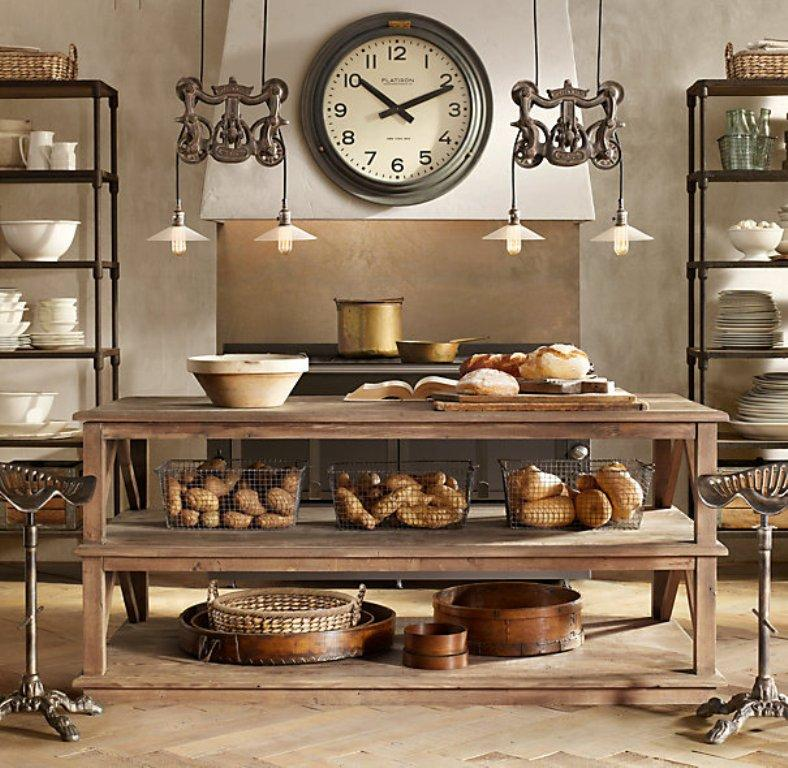 Exceptional Restoration Hardware Kitchen Island #3: 15 Reclaimed Wood Kitchen Island Ideas Rilane. 3737. My Greenbrae Cote Restoration  Hardware Inspired Island